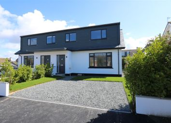 Thumbnail 3 bedroom semi-detached house for sale in Henwood Crescent, Newquay