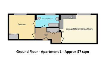 Thumbnail 1 bed flat for sale in West Port, Cupar