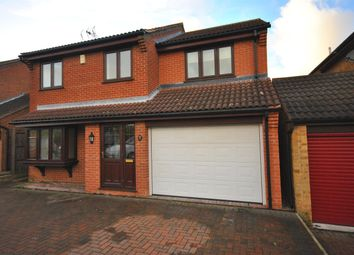 Thumbnail 4 bed detached house for sale in Orchid Close, Narborough, Leicester
