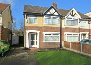 Thumbnail 3 bed semi-detached house for sale in Eastham Rake, Eastham, Wirral