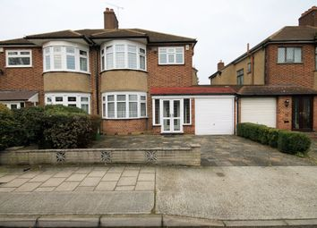 Thumbnail 3 bed semi-detached house for sale in Pettits Boulevard, Rise Park, Romford