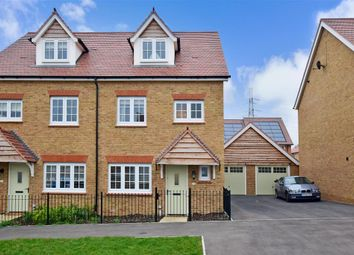 Thumbnail 4 bed semi-detached house for sale in Germander Avenue, Halling, Rochester, Kent