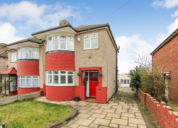 Thumbnail 3 bed semi-detached house for sale in Brockley Crescent, Collier Row, Romford