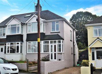 Thumbnail 3 bed semi-detached house for sale in Leaholes Avenue, Okehampton, Devon