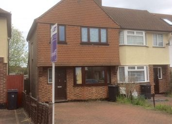 Thumbnail 3 bed end terrace house to rent in Hughendon Road, Worcester Park