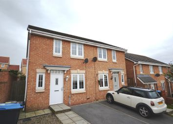 Thumbnail 3 bedroom semi-detached house for sale in Beechwood Close, Sacriston, Durham