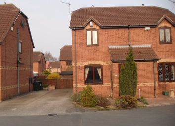 Thumbnail 2 bed semi-detached house to rent in Dean Close, Rossington, Doncaster, South Yorkshire