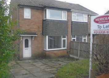Thumbnail 3 bed semi-detached house to rent in Kirkwood Close, Cookridge, Leeds