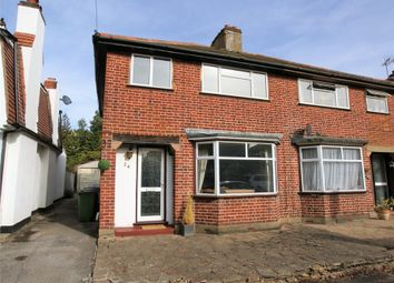 Thumbnail 3 bed semi-detached house for sale in Claremont Close, Hersham, Walton-On-Thames, Surrey