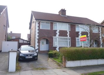 Thumbnail 3 bed semi-detached house to rent in Heyville Road, Bebington, Wirral