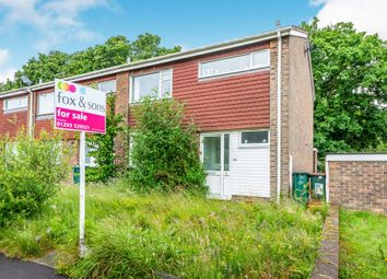Thumbnail 3 bed terraced house for sale in Greenacres, Crawley