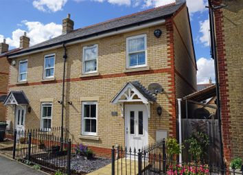 Thumbnail 3 bed semi-detached house for sale in Olivers Court, Shefford