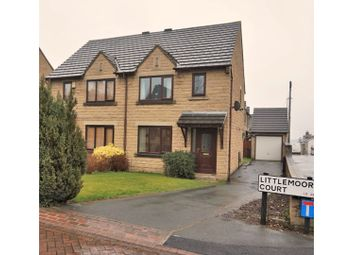 Thumbnail 3 bed semi-detached house for sale in Littlemoor Court, Pudsey