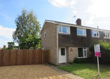 Thumbnail 3 bed semi-detached house for sale in John O'gaunt Close, Aylsham, Norwich