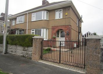 Thumbnail 3 bed semi-detached house to rent in Bowden Park Road, Crownhill, Plymouth