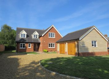 Thumbnail 4 bed detached house to rent in Station Road, Flordon, Norwich