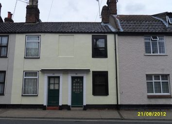 Thumbnail 1 bed terraced house to rent in Lower Olland Street, Bungay, Suffolk