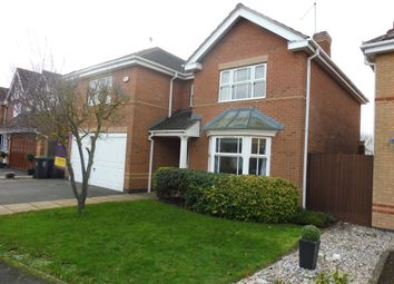 Thumbnail 4 bed detached house for sale in Damson Close, Thrapston, Kettering