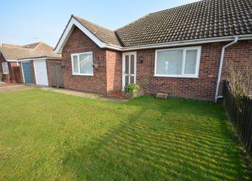 Thumbnail 2 bed semi-detached bungalow for sale in Manor Park Road, Corton, Lowestoft
