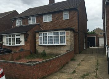 Thumbnail 1 bed semi-detached house to rent in Eastfield Close, Luton