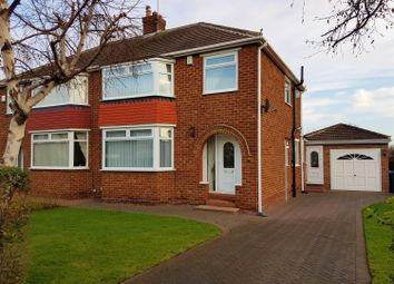 Thumbnail 3 bed semi-detached house for sale in Meadfoot Drive, Brookfield, Middlesbrough