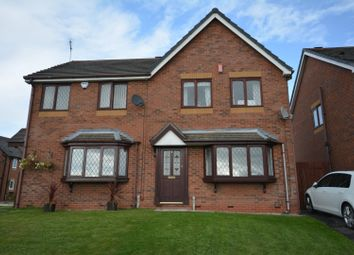 Thumbnail 3 bed semi-detached house for sale in Greendale Gardens, Crewe