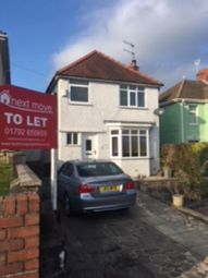 Thumbnail 3 bed detached house to rent in Vicarage Road, Morriston, Swansea