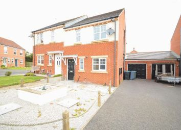 Thumbnail 3 bed semi-detached house for sale in Goswick Way, East Shore Village, Seaham