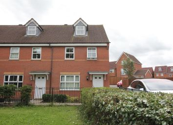 Thumbnail 3 bed town house for sale in Netherley Court, Hinckley