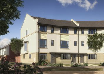 "Thumbnail 4 bed end terrace house for sale in ""The Austen"" at Pomphlett Farm Industrial, Broxton Drive, Plymouth"