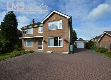 Thumbnail 4 bed detached house to rent in Darnhall School Lane, Winsford