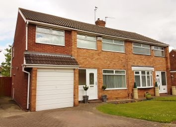 Thumbnail 4 bed semi-detached house for sale in Runswick Avenue, Acklam, Middlesbrough