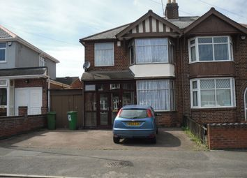 Thumbnail 3 bedroom semi-detached house for sale in Hillrise Avenue, Off Narborough Rd, Leicester