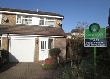 Thumbnail 3 bed semi-detached house to rent in Brecon Avenue, Bromsgrove