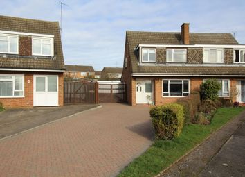 Thumbnail 3 bed semi-detached house for sale in Quantock Close, Putnoe, Bedford