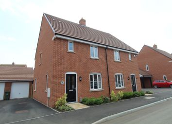 Thumbnail 3 bed semi-detached house for sale in Drayhorse Crescent, Milton Keynes