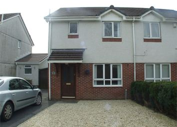 Thumbnail 3 bed semi-detached house for sale in Clos Cenawon, Cwmrhydyceirw, Swansea