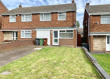 Thumbnail 3 bed semi-detached house to rent in Harden Close, Walsall