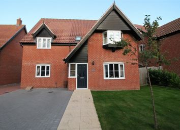 Thumbnail 4 bed detached house for sale in Collingwood Close, Poringland, Norwich