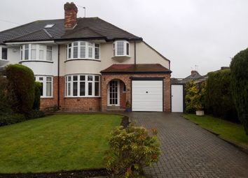 Thumbnail 3 bed semi-detached house for sale in Ashcombe Avenue, Handsworth Wood, Birmingham