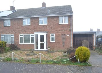 Thumbnail 3 bedroom semi-detached house for sale in Chestnut Road, Glemsford, Sudbury