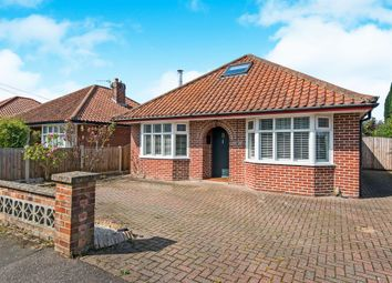 Thumbnail 3 bedroom detached bungalow for sale in Hillcrest Road, Thorpe St Andrew, Norwich