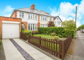 Thumbnail 3 bed semi-detached house for sale in Evington Drive, Leicester