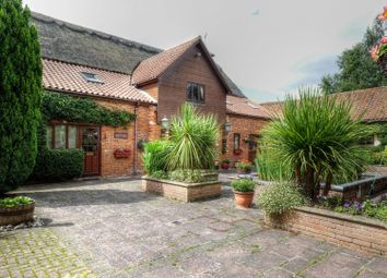 Thumbnail 5 bedroom barn conversion for sale in Woodrising Road, Scoulton, Norwich