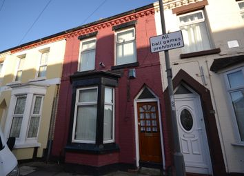 Thumbnail 3 bed terraced house to rent in Rossett Street, Liverpool