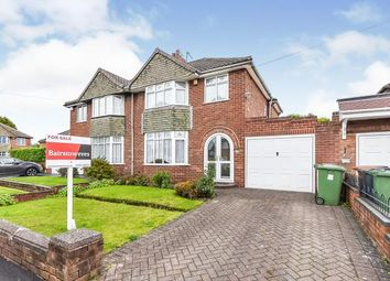Thumbnail 3 bed semi-detached house for sale in Westway, Walsall, West Midlands