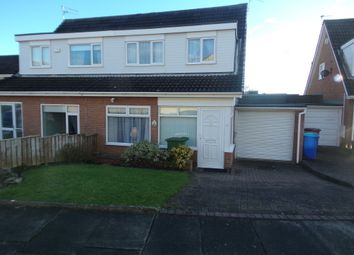 Thumbnail 3 bed semi-detached house for sale in Heron Close, Blyth
