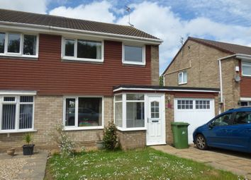 Thumbnail 3 bedroom semi-detached house to rent in Bexhill Square, Blyth