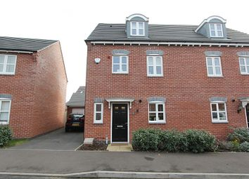 Thumbnail 4 bed semi-detached house for sale in Usbourne Way, Ibstock, Leicestershire