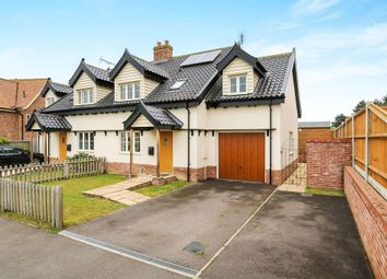 Thumbnail 3 bed semi-detached house for sale in Spinney Drive, East Harling, Norwich